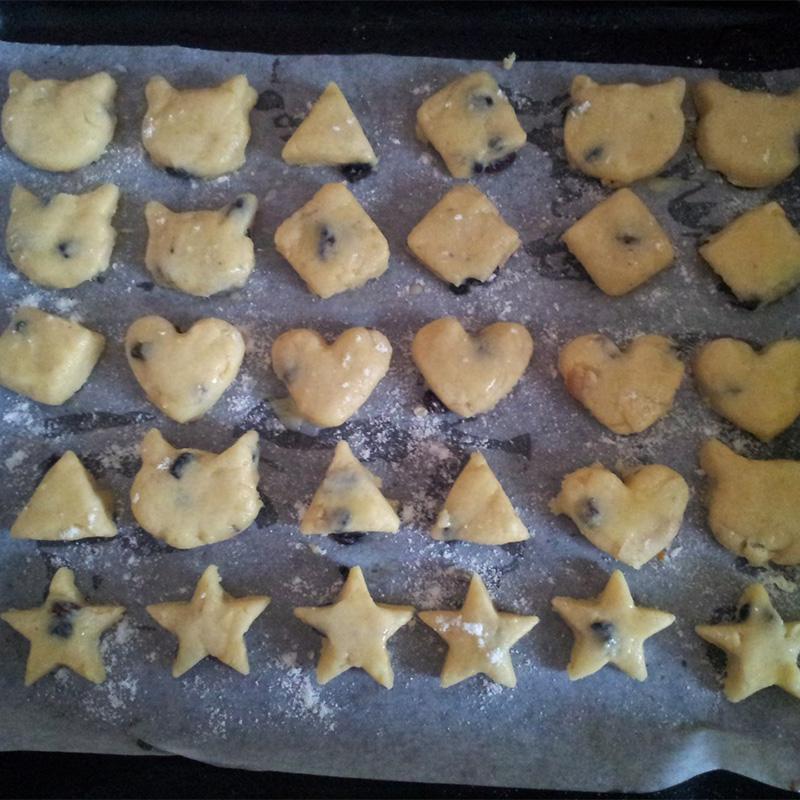 печенье рецепты песочное с изюмом с фото